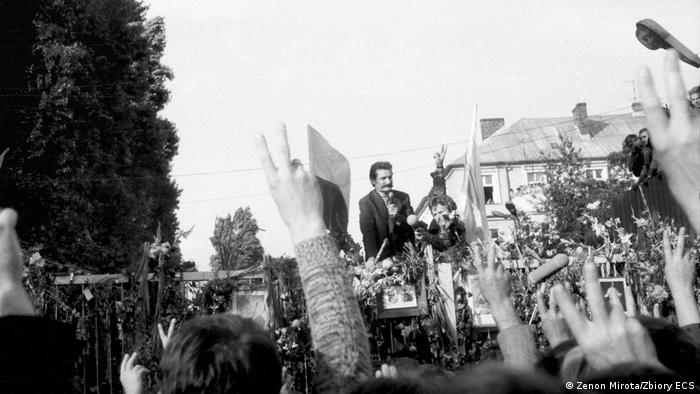 Na przywódcę strajku wybrano Lecha Wałęsę