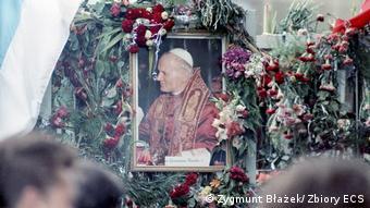 40 Jahre Solidarnosc I Ein Bild von Johannes Paul II