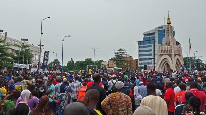 Des manifestants du mouvement du 5 juin pour le départ du président IBK