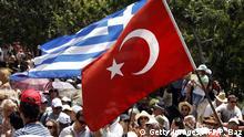 Symbolbild Flaggen Türkei Griechenland