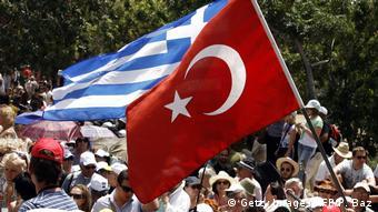 Οι σημαίες Ελλάδας και Τουρκίας