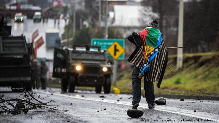Protestas de la comunidad mapuche en Curacautín, Chile. (9.08.2020).