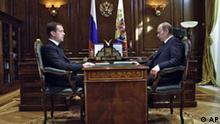Russland Medwedjew und Putin