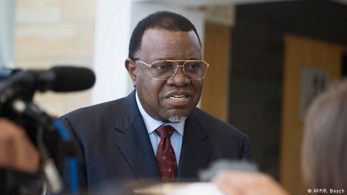 Präsident Hage Geingob von Namibia