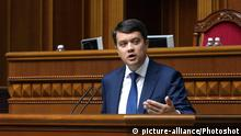 Ukraine Parlamentspräsident Dmytro Rasumkow