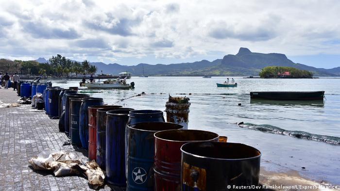 BG Mauritius droht Ölkatastrophe (Reuters/Dev Ramkhelawon/L'Express Maurice)