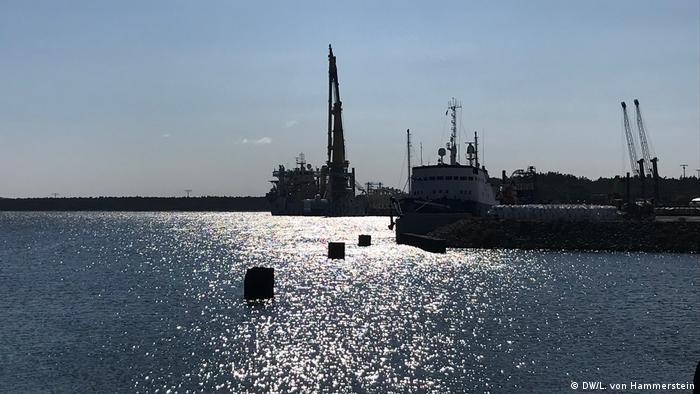 порт Мукран на острове Рюген в Германии