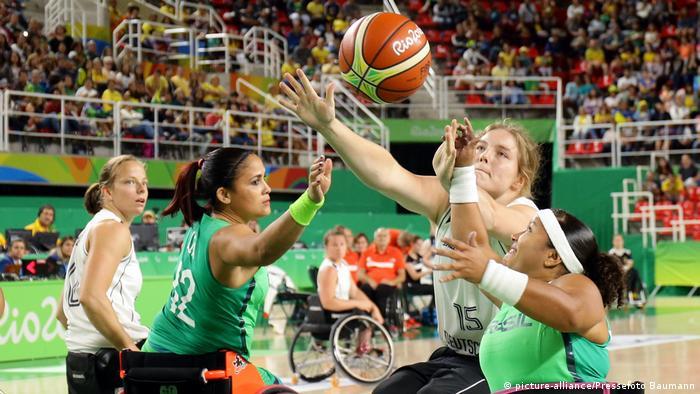 Rio de Janeiro Paralympics Rollstuhlbasketball Deutschland vs. Brasilien