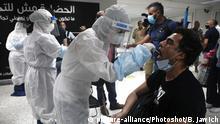 Libanon Covid-19 Tests nach Wiedreröffnung des Internationalen Flughafes in Beirut