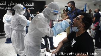 Тестирование в международном аэропорту Бейрута