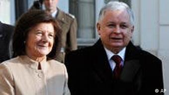 Lech Kaczynski i njegova supruga