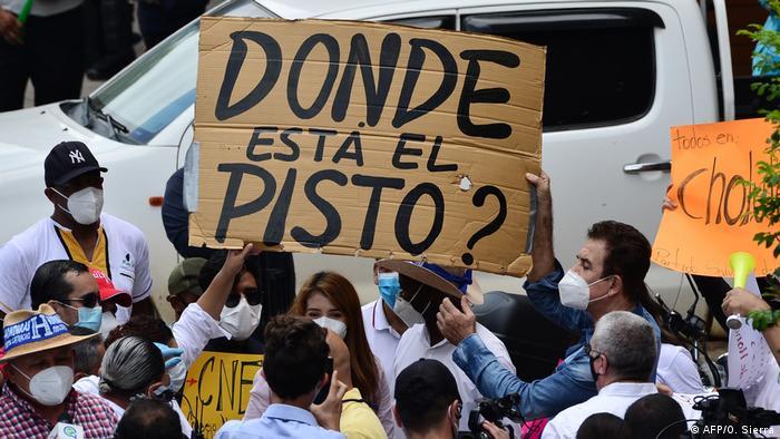 Foto de manifestantes en Honduras