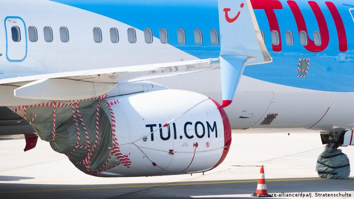 A TUI plane at Hannover airport
