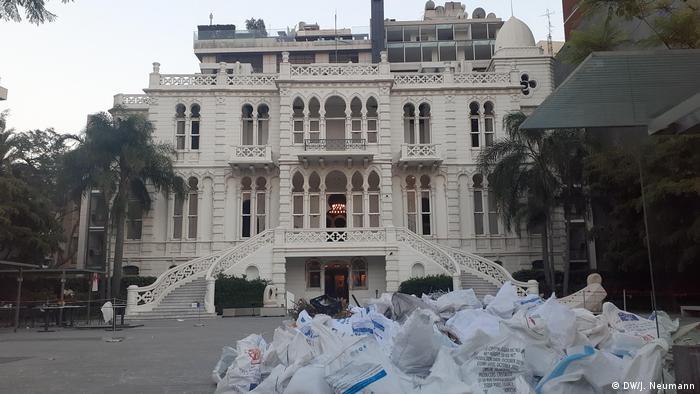 Sursock Museum in Beirut after explosion (DW/J. Neumann)