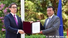 Nord-Mazedonien Übergabe des Mandats zur Regierungsbildung