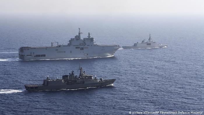Griechenland | Türkei | Konflikt um Machtansprüche im östlichen Mittelmeer (picture-alliance/AP Photo/Greek Defence Ministry/)