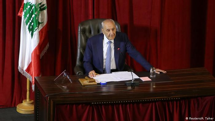 Libanon Der parlamentarsiche Sprecher Berri im UNESCO Palace in Beirut
