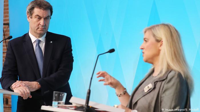 Deutschland | PK | Bayern Ministerpräsident Markus Söder (imago images/S. Minkoff)