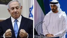 Kombobild | Benjamin Netanjahu, Premierminister von Israel und Mohamed bin Zayed, Kronprinz von Abu Dhabi