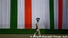 Indien Vorbereitung Unabhängigkeitstag