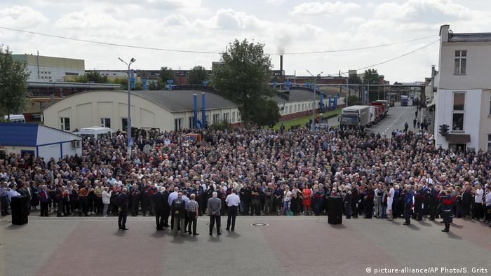 На протест 14 серпня зібралися і працівники Мінського автомобільного заводу