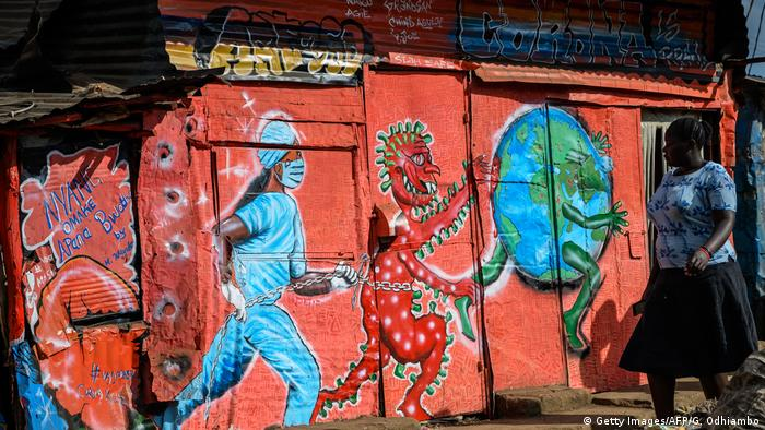 Kenia Corona Graffiti (Getty Images/AFP/G. Odhiambo)