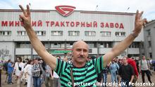 Protesters in Minsk (picture-alliance/dpa/N. Fedosenko)