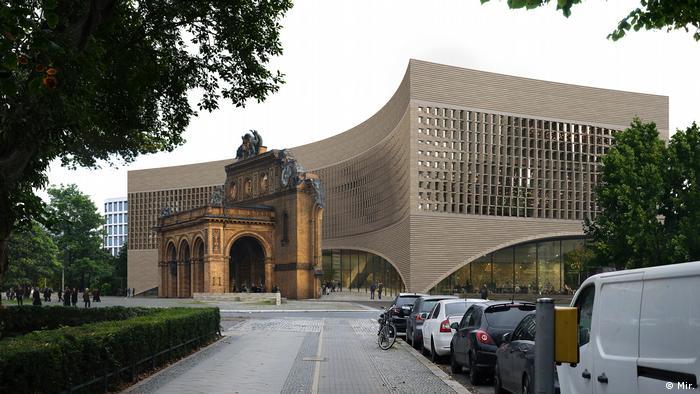 Miejscem rozpatrywanym na upamiętnienie polskich ofiar wojny był pierwotnie Plac Askański w centrum Berlina, teraz ma tam powstać Muzeum Uchodźstwa (na zdj. projekt)