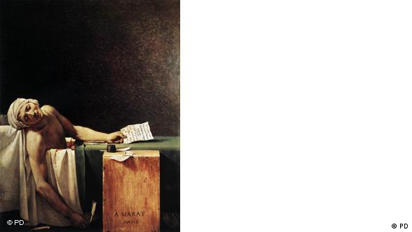 Frankreich Geschichte Malerei Tod von Marat