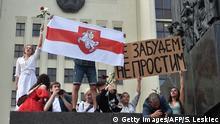 Minsk Proteste Opposition nach Wahlbetrug