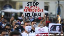 Polen Krakau Solidaritätsproteste mit Belarus
