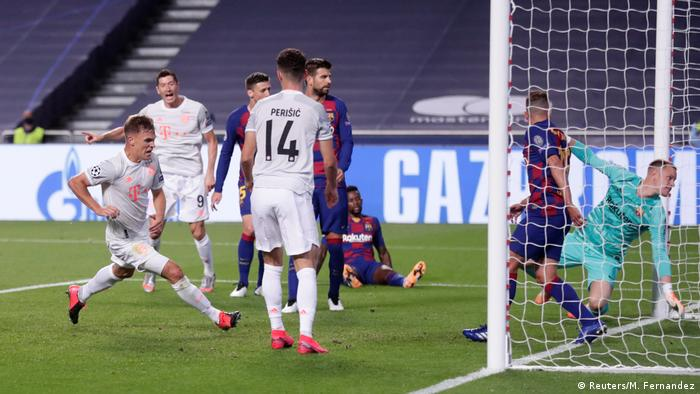Champions League | Viertelfinale | FC Barcelona vs. Bayern München - Joshua Kimmich Tor
