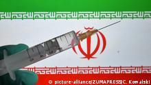 Iran Symbolbild Corona Impfstoff