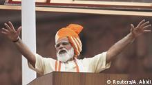 Indien Feierlichkeiten Unabhängigkeitstag | Rotes Fort Delhi | Modi