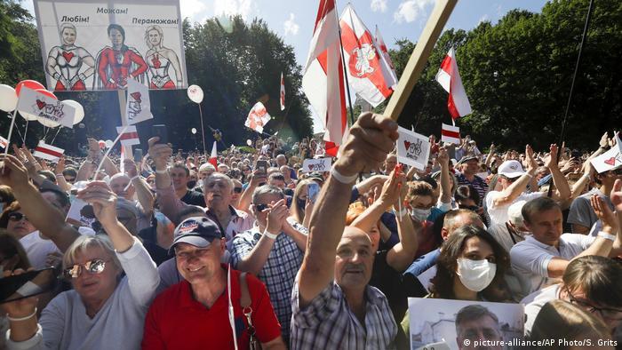 Протестні акції в Білорусі тривають майже тиждень