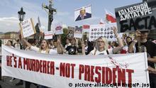 Prag Proteste Opposition Belarus