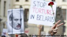 Prag Proteste Opposition Belarus (picture-alliance/AP Photo/P. Josek)