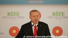 Türkischer Präsident Erdogan besucht Rize