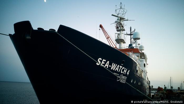 Seenotrettungsschiff «Sea-Watch 4» startet zum ersten Einsatz vor Libyen (picture-alliance/dpa/MSF/C. Grodotzki)