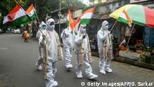 BdTD | Indien Corona-Pandemie Feier Unabhängigkeitstag