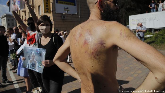 Belarus Wahl | Protest gegen Polizeigewalt