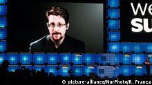 Portugal Edward Snowden Videobotschaft ARCHIV
