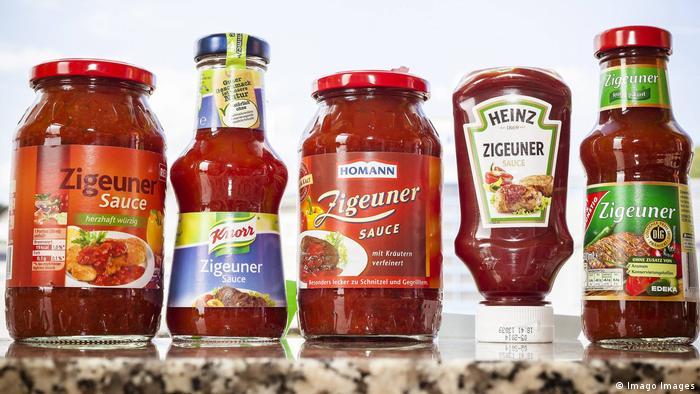 A row of bottles of Zigeuner sauce