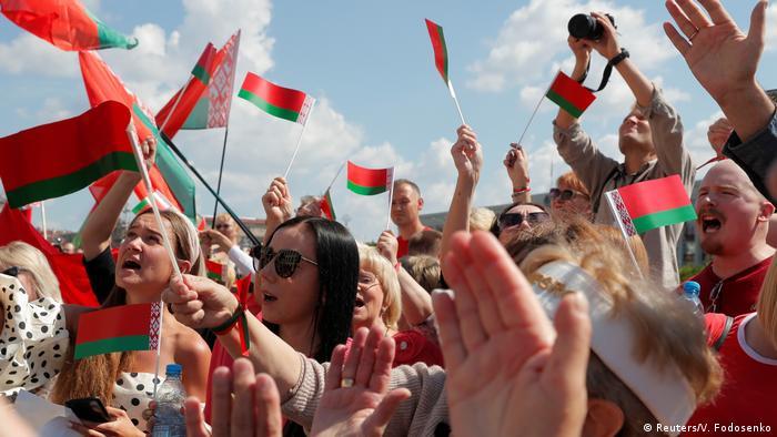 Belarus Pro-Lukaschenko Demo in Minsk