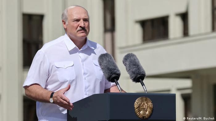 Олександр Лукашенко виступає перед прихильниками у Мінську
