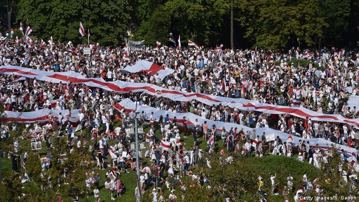 Protesty przeciwko prezydentowi Aleksandrowi Łukaszence