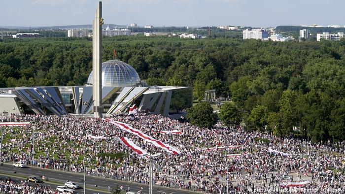Акция протеста в Минске, 16 августа