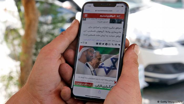 Symbolbild Israel VAE Wiederherstellung Kommunikationsleitungen (Getty Images/AFP)