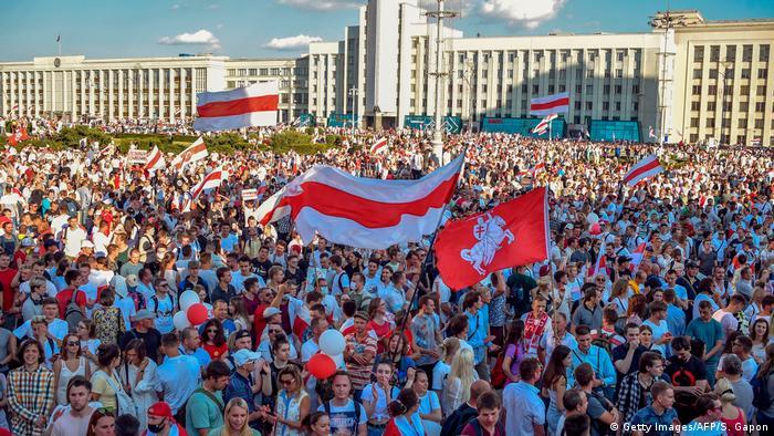 Minsk   Anti Regierungsproteste (Getty Images/AFP/S. Gapon)