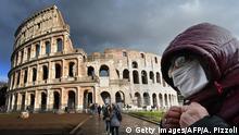Italien I Coronavirus I Schutzmaske